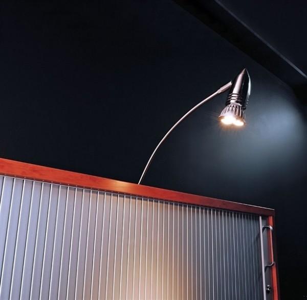Kapego Möbelaufbauleuchte, Pilas I, exklusive Leuchtmittel, spannungskonstant, 12V AC/DC, Metall