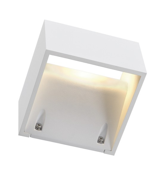 LOGS WALL, Outdoor Wandleuchte, LED, 3000K, IP44, eckig, weiß, 8W