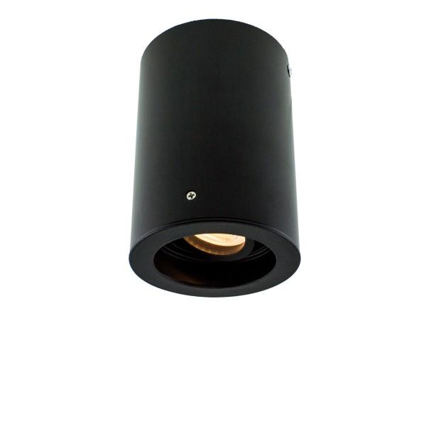 Deckenleuchte ROUND-ONE für GU10 Sockel, rund, schwarz