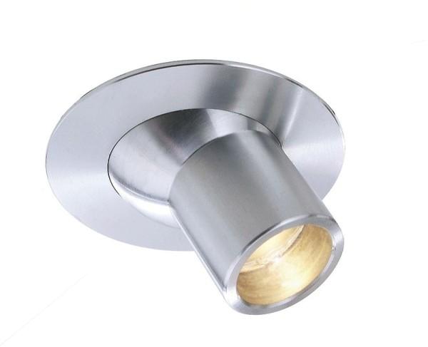 Deko-Light Deckeneinbauleuchte, Light Point Perno, Aluminium, silberfarben, Warmweiß, 30°, 2W, 3V