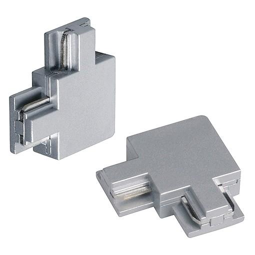 Eckverbinder für C-TRACK, 2 Stk., silbergrau, max. 20A