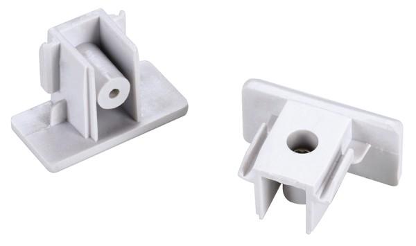 ENDKAPPEN, für Hochvolt 1Phasen-Aufbauschiene, weiß, 2 Stück