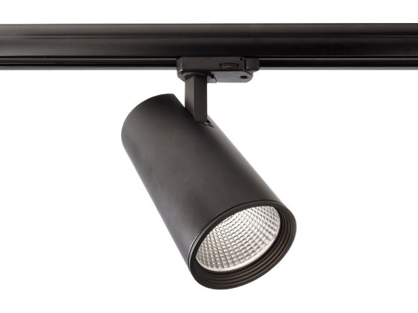 Deko-Light Schienensystem 3-Phasen 230V, Luna 30, Aluminium Druckguss, schwarz mattiert, Neutralweiß