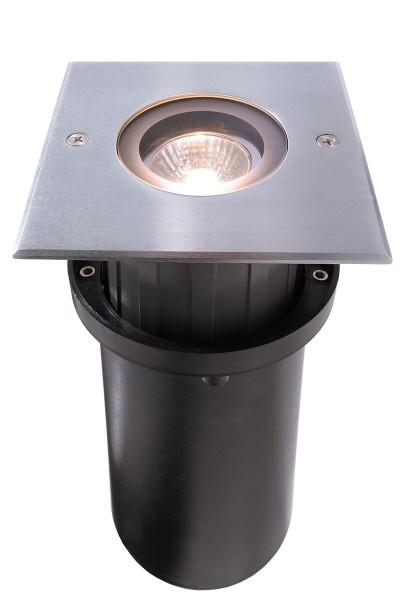 Deko-Light Bodeneinbauleuchte, Quick Square, Edelstahl, silberfarben, 10W, 230V, 116x116mm